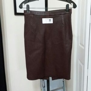 Coach leather skirt NWT, retails for $698.00